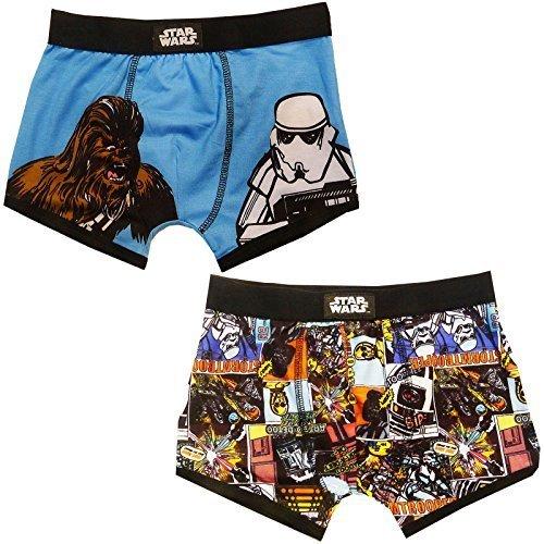 Con Licenza Ufficiale Supereroe Marvel O Star Wars Ragazzi Confezione Da 2 Boxer - Star Wars Boxer, età 6-7 anni