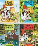Nelson Mini-Bücher: 4er Pettersson und Findus 5-8