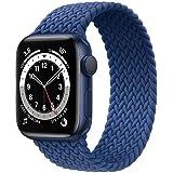 Correa trenzada Solo Loop compatible con Apple Watch 44 mm, 42 mm, 38 mm, 40 mm, elástica, correa de repuesto para iWatch Ser