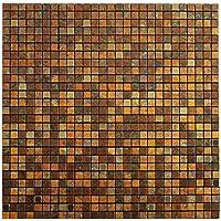 Royllent moderno in alluminio spazzolato, motivo: Mosaico di mattonelle &