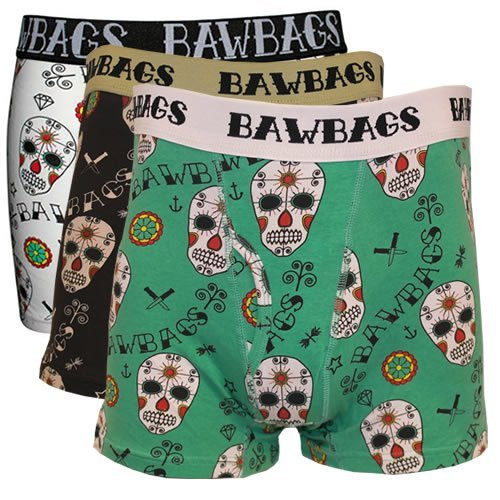 4d691093c8 BAWBAGS 3 PACK BOXERS Day Of The Dead
