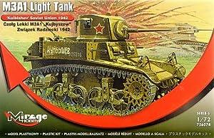 Mirage Hobby 72674, 1: 72, m3a1Light Reservorio kuibys Chew unión soviética en años 1942, de plástico Maqueta de