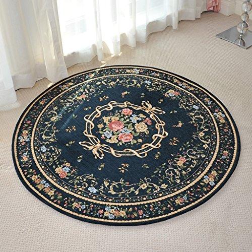 FXM Tapis Tapis Salon Chambre Literie Couverture Ronde Européenne Étude Table Basse 80 CM, 90 CM, 120 CM Tapis (taille : 120CM)