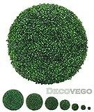 Buchsbaum Kugel Künstliche Pflanze Buxus Deko Innen und Aussen 8 - 55 cm Durchmesser Decovego, Durchmesser:45 cm
