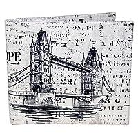 BIBITIME Sketch Europe:UK Tower Bridge Roman Amphitheatre Colosseum Style Wallet