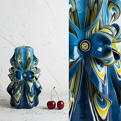 medium-blue-with-flower-shapes-bright-colors-decorative-carved-candle-evecandles