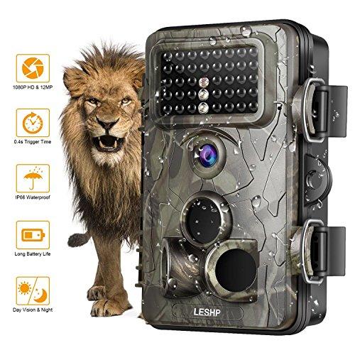 OCDAY Wildkameras Trail Jagd-Kamera 12MP 1080P Full HD Wildkamera mit bewegungsmelder Zeitraffer 65ft 120 ° Weitwinkel fotofalle Infrarot 42pcs IR LEDs Wasserdicht IP66 20m Nachtsicht 2,4