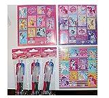 12 teiliges Set Hasbro My Little Pony 6 Kugelschreiber + 6 Stickerbogen Set Mitgebsel