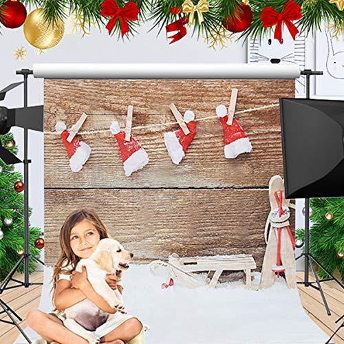 und Weihnachts Fotografierte Stoffhintergruende Shooting Props Fotografie Studio Backdrop Fotostudio (1.5 x 2.1m) ()
