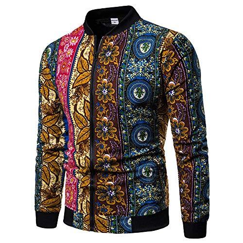 ♫♫ Amlaiworld Bequeme bunt Muster drucken Langarmshirts Mode Fitnesss Winter Herbst Pullover Coole Herren Sport Sweatshirt Joggen weich Outdoor Jacken - Oversize-rechner