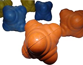 ROXAN Rubber Reaction Ball (Multi-Colour, Pack of 6)