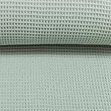 Die Stofftante / Waffelpique/Nelson / Dusty Mint / 0,5 m x