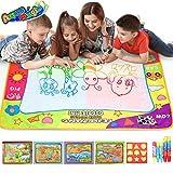 COOLJOY Doodle Tappeto Magico, Aqua DAoodle Tappeto, Bonus con Un Libro Magico Acquatico di Dinosauro, 5 Penne Ad Acqua E 9 Francobolli, Bambini di 3 Anni (80×60cm)