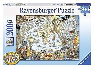 Ravensburger - Puzzles 200 Piezas XXL, diseño El Mapa de los Piratas (12802 0)