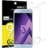 NEW'C PanzerglasFolie Schutzfolie für Samsung Galaxy A5 2017, [2 Stück] Frei von Kratzern Fingabdrücken und Öl, 9H Härte…
