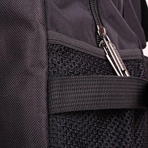 ZKOO Damen & Herren Wasserdicht Wanderrucksack Reiserucksack Laptoprucksack Reisetaschen Ultraleichte Wandern Klettern Rucksack Schwarz