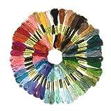 Algodón Hilo de bordar, wartoon algodón bordado hilo dental hilo de coser Conjunto para punto de cruz (50 madejas )