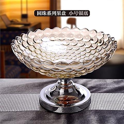 European-Style Living Room Home decorazioni, Set di ornamenti, Cristallo ornamenti, posacenere, bocce, Candy Jar, Vase,argento coppa di frutta