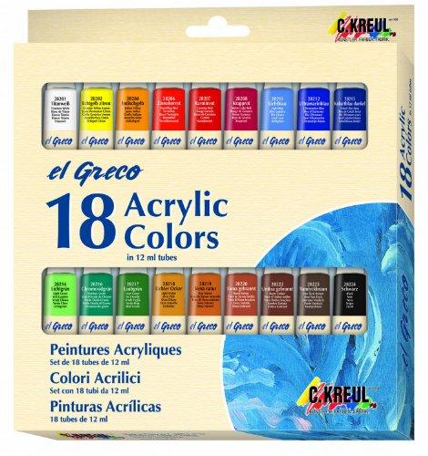 _ C. Kreul El Greco 28251 – Set da 18 colori acrilici lista dei prezzi