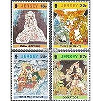 Regno Unito-Jersey 581-584 (completa.Problema.) 1992 Batik (Francobolli