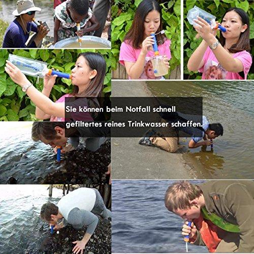 Wasserfilter Outdoor, ECHTPower 1500L Mini Tragbarer Persönlicher Wasserfilter Wasseraufbereitung Wasserreiniger - 4