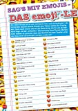 Das große Buch der Emojis: Stickern, Rätseln, Spielen für Das große Buch der Emojis: Stickern, Rätseln, Spielen