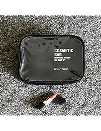 WOMHOPE Waterproof Clear Cosmetic Bag Makeup Bag Travel Storage Bag Toiletries Storage Bag Cosmetic Pouch (Black)