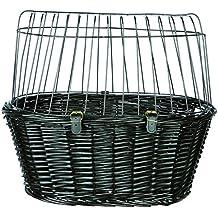 Trixie 2818 - Cesta Bicicletas mimbre osc., Rejilla, 50×41×35