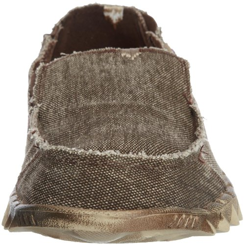 Dude Shoes Men's Farty Classic Chocolate Stonewash Slip On / Mule Brown