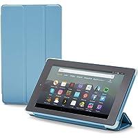 Nupro Custodia pieghevole con supporto integrato per tablet Fire 7, colore: blu-grigio