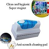 SeniorMar Mini Algae Scraper Window Cleaning Floating Curve Aquarium Magnetic Brush Magnets Brush Cleaner Aquarium Fish Tank Glass