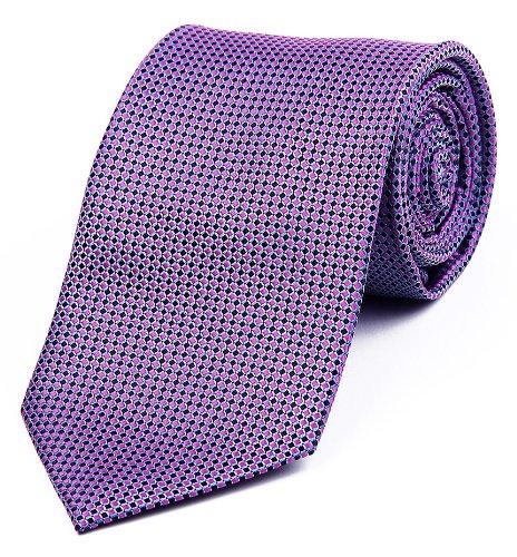 DonDon Herren Krawatte 8 cm klassische handgefertigte Business Krawatte Rosa Schwarz Blau für Büro oder festliche Veranstaltungen (Schwarz Und Rosa Krawatte)