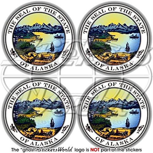 Alaska state Seal usa American Alaskan 50mm (5,1cm) bumper-helmet adesivi in vinile, decalcomanie