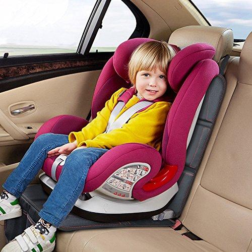 Autositzauflage, Komake Kindersitzunterlage Autositzschoner Autositz Schutz Kindersitz, ISOFIX Geeignet Unterlage Kindersitz Sitzschutz Auto Sitzschoner Auto Schonbezug für Kindersitz Rücksitzbank
