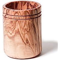 Berard 88571, Pot à couverts en bois d'olivier et fait-main - 15 cm