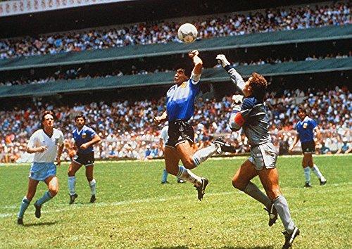 1986 Poster (Dynamo Printing Ltd Diego Maradona Hand of God World Cup 1986Poster (A2(594x 420mm)))