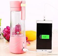 GZQNAN Juice Mixer Plastic Bottle, 380 ML (Random Colour)