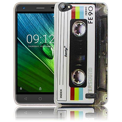 thematys Passend für Acer Liquid Z6E Kassette Silikon Schutz-Hülle weiche Tasche Cover Case Bumper Etui Flip Smartphone Handy Backcover Schutzhülle Handyhülle
