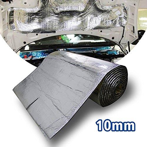 Motify-GT 6.5 mq 10 mm Heat Shield Thermal Sound Deadener tappetino auto controllo acustico a prova di isolamento acustico Dampening Moistureproof impermeabile (100 x 60 cm)