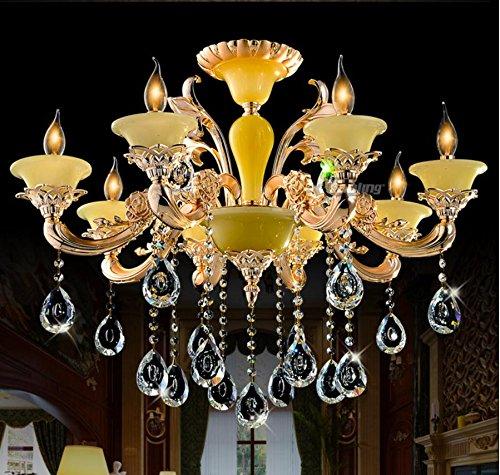 OLQMY-Pietra della nube della lega zinco lampadario d'oro , luxury crystal 8
