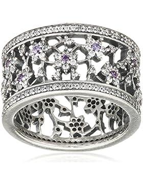 Pandora Damen-Vergissmeinicht 925 Silber lila Zirkonia - 190991ACZ