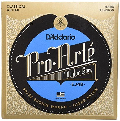 D'Addario EJ48 - de bronce y nylon, .0285 - .044 (tensión alta)