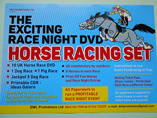 61bio%2BNXe0L BEST BUY #1THE EXCITING BOXED RACE NIGHT FUNDRAISING DVD SET   9 UK HORSE RACES/3 DOG RACES/ 1 FUN PIG RACE   ADD SOMETHING EXTRA TO YOUR EVENT / tickets/paperwork   THE COMPLETE SET   ITS GOT ALL YOU NEED TO PUT ON YOUR RACE NIGHT!!AND PRINTABLE CDR CONTAINING LOTS OF RACE NIGHT IDEAS price Reviews uk