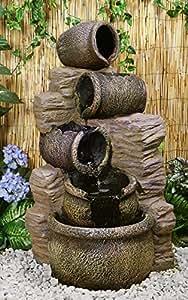 Fontana a cascata Chierika - Costituita da Giare per l'olio