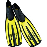 SEAC Men's Fuga, Fins for Scuba Diving, Snorkelling and Apnea with Foot Pocket, for Adults, Made in Italy