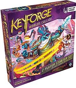 Fantasy Flight Games FFGKF07 KeyForge: Worlds Collide Juego para Principiantes de 2 Jugadores, Colores Variados