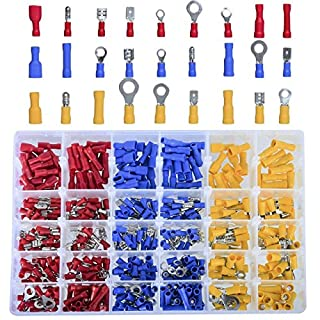 dingchen AllBeauty Nadeln Isolierte Draht Terminals Crimp Stecker, Elektrische Terminals Kit Automotive Wire Connector Set in Rot Blau Gelb