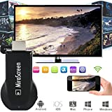 Oxsubor(TM) MiraScreen Wi-Fi Display Receiver Powerful 1080P Audio & Video DLNA Airplay Miracast Display Dongle with HDMI Plug + Andoer Box Gift for Smart Phones Notebook Tablet PC to HDTV Monitor