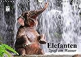 Elefanten. Spaß am Wasser (Wandkalender 2019 DIN A4 quer): Elefanten Babys beim Baden in Thailand (Geburtstagskalender, 14 Seiten ) (CALVENDO Tiere)