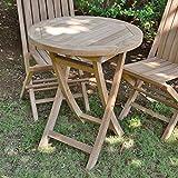 Table-pliante-ronde-en-teck-Ecograde-Bistrot--60-cm